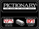 Pictionary: The Game of Quick Draw ZX Spectrum This screen displays as the game loads