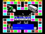 Pictionary: The Game of Quick Draw ZX Spectrum Then the game does a bit more loading. Across the top are options. Game sets how many players there are, Level sets how long the player(s) have to guess