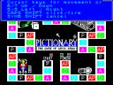 Pictionary: The Game of Quick Draw ZX Spectrum The action keys cannot be redefined, however the important keys are displayed, this can also be displayed via the Help / Keys menu