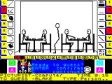 Pictionary: The Game of Quick Draw ZX Spectrum At 15 seconds the player hit the space bar in desperation because the action keys did not seem to help