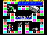 Pictionary: The Game of Quick Draw ZX Spectrum Game Options : in a multiplayer game the players get the chance to draw a picture using the game. This is also the control that loads an alternate block of questions