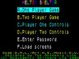 Helter Skelter ZX Spectrum The load screen is replaced by the main game menu screen