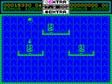 Helter Skelter ZX Spectrum Start of level 2. Tricky one because the natural bounce of the ball isn't enough to reach the shelves from the floor. At least it starts directly over the target which makes the first kill easy