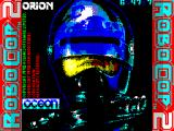 RoboCop 2 ZX Spectrum Load screen. This displays as the game is loading. A countdown timer gives a clear indication of how much longer the load will take