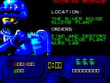 RoboCop 2 ZX Spectrum Mission 1 : Positive policing - kill bad guys and nuke their lab