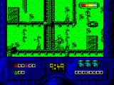 RoboCop 2 ZX Spectrum Falling blocks ('T' in this case) and other items appear randomly from above. They don't get caught automatically if Robocop stands underneath them