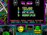 Toi Acid Game ZX Spectrum The lady is replaced by the main game menu