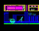 Hostage: Rescue Mission BBC Micro Level 1: Running (the wrong way) ahead of the searchlight.