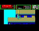 Hostage: Rescue Mission BBC Micro Level 2: Starting to abseil down the side of the building.