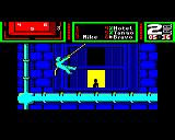 Hostage: Rescue Mission BBC Micro About to enter the building through a window.