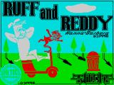 Ruff and Reddy in the Space Adventure ZX Spectrum Title screen