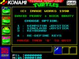 Teenage Mutant Ninja Turtles ZX Spectrum Main menu