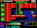 Teenage Mutant Ninja Turtles ZX Spectrum A side-scrolling stage