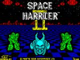 Space Harrier II ZX Spectrum Title screen