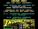 Indiana Jones and the Last Crusade: The Action Game ZX Spectrum Copyright info and credits