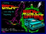 Back to the Future Part II ZX Spectrum Title screen