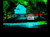 Back to the Future Part II ZX Spectrum Animation showing the DeLorian taking off.
