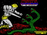 Masters of the Universe: The Arcade Game ZX Spectrum Title screen