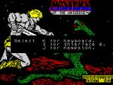 Masters of the Universe: The Arcade Game ZX Spectrum Choosing the input device