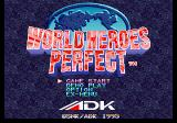 World Heroes Perfect SEGA Saturn Title screen