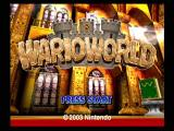 Wario World GameCube Title Screen
