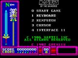 Masters of the Universe: The Movie ZX Spectrum Main menu