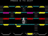 Mr. Wimpy: The Hamburger Game ZX Spectrum Picture from the Burger Time-ripoff part of the game.