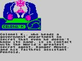 Danger Mouse in the Black Forest Chateau ZX Spectrum Briefing with Colonel K.