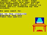 Danger Mouse in the Black Forest Chateau ZX Spectrum Inside the hut