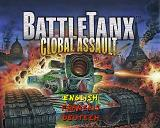 BattleTanx: Global Assault PlayStation Language select.
