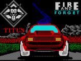 Fire and Forget ZX Spectrum Loading screen