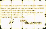 Journey to the Center of the Earth Commodore 64 An ancient letter from Arne Saknussemm