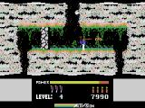 H.E.R.O. ColecoVision Shooting at one of the creatures