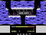 H.E.R.O. ColecoVision Game over
