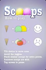 Scoops iPhone How to play