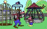 Mickey's Runaway Zoo Commodore 64 Yes, leaving the doors open was a bad idea, Goofy.