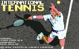International Tennis Commodore 64 Title screen