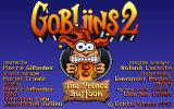 Gobliins 2: The Prince Buffoon DOS Title screen