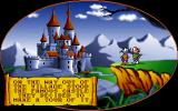 Gobliins 2: The Prince Buffoon DOS Cutscene: Between levels, such screen advance the truly irrelevant story. Here our heroes decide to visit the besieged castle.
