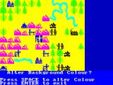 The Bulge: Battle for Antwerp ZX Spectrum Battle Map color options - yellow