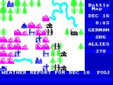 The Bulge: Battle for Antwerp ZX Spectrum Battle begins - Dec 16th Germans begin attack.  Weather report scrolling at bottom
