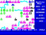 The Bulge: Battle for Antwerp ZX Spectrum Allied forces falling back - turn phases moving into Dec 17th and new weather report