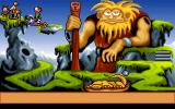 Gobliins 2: The Prince Buffoon DOS The Giant: Prehistoric bridge building.