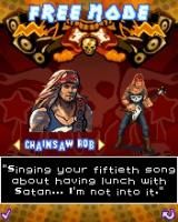 Guitar Rock Tour J2ME Character selection: Chainsaw Rob
