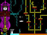Gonzzalezz ZX Spectrum This level is harder. The platforms are smaller and the magnets pull Gonzzalezz off them