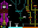Gonzzalezz ZX Spectrum That slip cost a life, the number at the bottom of the clock has decreased, still the game restarts from the beginning of this section and not right at the start