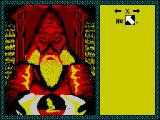 Iron Lord ZX Spectrum To exit the conversation screen This player had to point to the 'X' at the top of the menu and select it