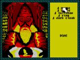 Iron Lord ZX Spectrum This is the inventory screen, its accessed from the same menu as the dialogue