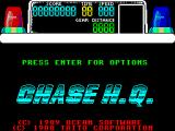 Chase H.Q. ZX Spectrum The load screen is replaced by this. The game waits here until the player presses a key