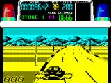 Chase H.Q. ZX Spectrum Make a tight turn and the tyres smoke
